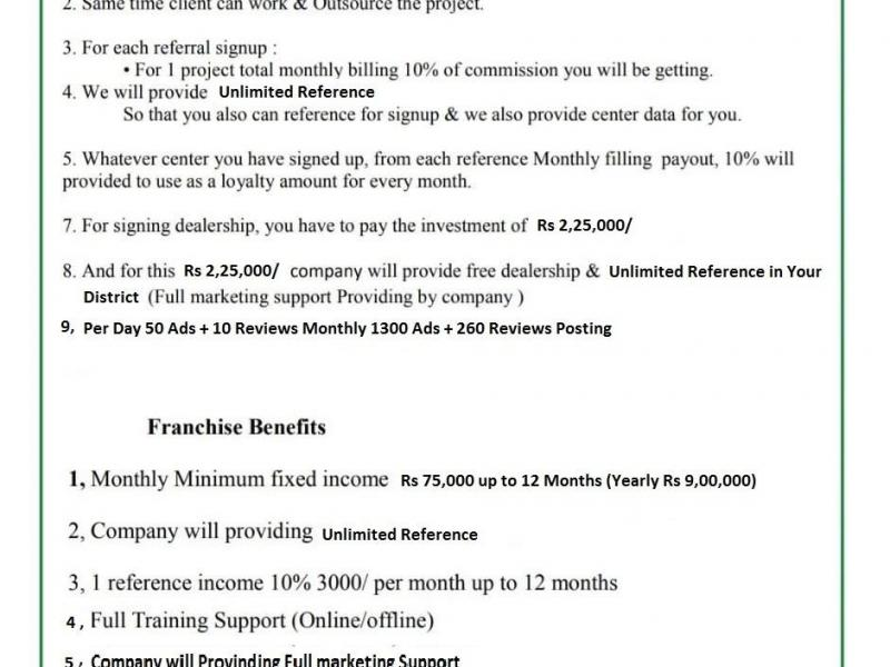 Bpo Franchise Business Opportunity Monthly Fixed Income - 1